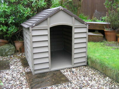 Dog Kennel Strong Durable Plastic Large Outdoor Pet Garden Patio Animal House