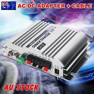 AU Hi-Fi 2.1CH Amplifier with AC Power Adapter Music AMP Super Bass Stereo Audio
