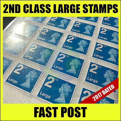 100 x 2nd Class LARGE Postage Stamps DISCOUNTED Self Adhesive Stamp Second NEW