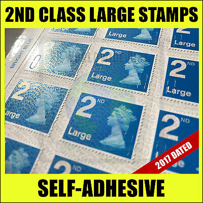 300 2nd Class LARGE Postage Stamps BRAND NEW Self Adhesive Stamp Second BUY WOOW