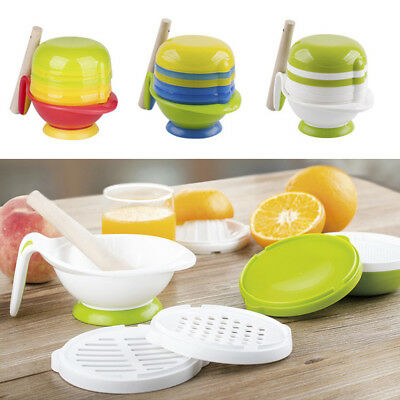 Fj- Lx_ 8Pcs/Set Infant Baby Food Grinder Juice Fresh Vegetable Mill Grinding Bo