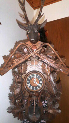 giant musical cuckoo clock black forest wall clock made in germany 2 melodies
