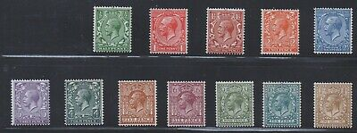 GB 1924 KGV BLOCK CYPHER Set  (12)  SG 418-429  UNMOUNTED - NEVER HINGED