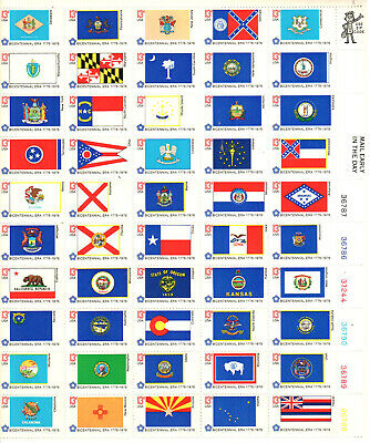 SC#1682a - 13c State Flags Sheet of 50 MNH LR