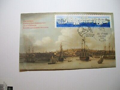 Canada FDC #1864/65 Tall Ships in Halifax Harbour description on back
