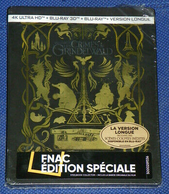 LES CRIMES DE GRINDELWALD BLU RAY 4K+3d+2d+version Longue neuf steelbook