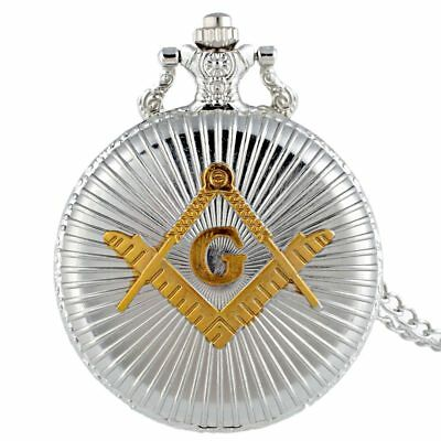 Masonic Silver & Gold Pocket Watch Compass Symbol Unknown Group Temple Lodge UK