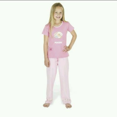 Bnwt Girls Pyjamas Set Suit Pink Age 7-8 Years Sweet As Candy