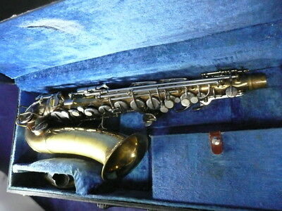 Vintage 1955 C.G. Conn 6M Naked Lady Alto Saxophone In Case 535308