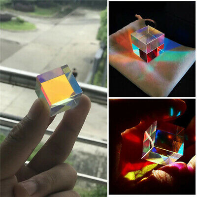 Optical Glass X-cube Dichroic Cube Prism RGB Combiner Splitter Children Gift GIL