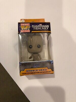 NIB Funko Pocket POP Marvel Guardians of the Galaxy Groot Key Chain New Official
