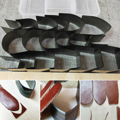 1Set Leather Crafts Cutter Punch Strap Belts Wallet End Tools Die Cut Hand Craft