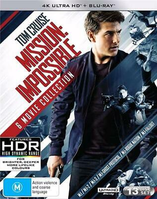 Mission Impossible | Blu-ray + UHD : 6 Movie Franchise Pack - Blu Ray Region B F