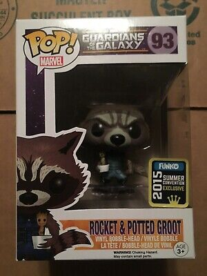 Funko Pop! Marvel SDCC Rocket & Potted Groot  Guardians of the Galaxy #93