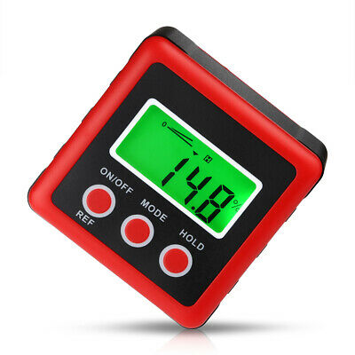 Digits LCD Inclinometer Level Box Protractor Angle Finder Gauge Meter Bevel Tool
