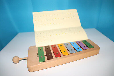 Glockenspiel, Xylophone Natural Colored Wiener Manufactory, C-Dur with Notes