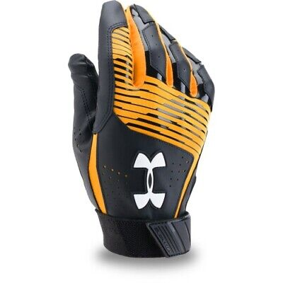Under Armour Clean Up Batting Gloves Pair 1299530 - Black/Gold - X-Large