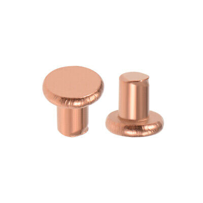 "100 Pcs 1/8"" x 5/32"" Flat Head Copper Solid Rivets Fasteners"