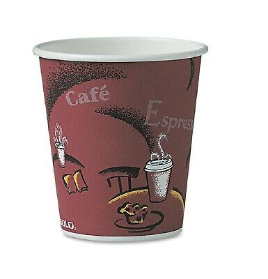 Solo Hot Drink Cups 10Oz Maroon 300Ct Paper Bistro Design Coffee Cup