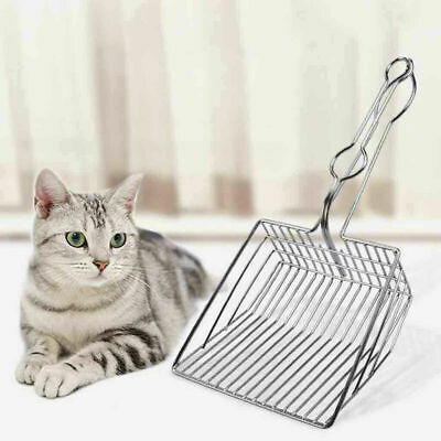 Cat Kitten Metal Litter Tray Scoop Spoon Pet Cleaning Waste Scooper Poop Shovel