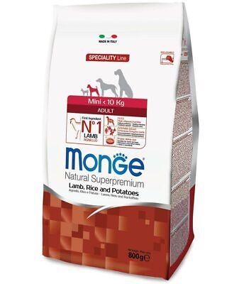 Monge Superpremium Mini Adult Agnello, Riso e Patate