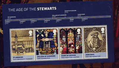 GB 2010 KINGS and QUEENS HOUSE of STEWART MINIATURE SHEET MNH