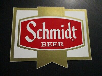 "SCHMIDTS Classic ribbon Logo 6"" STICKER decal craft beer brewing brewery NOS"