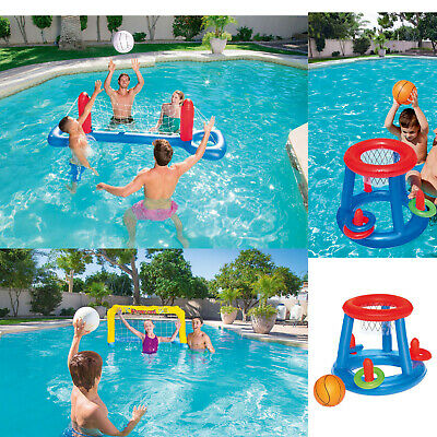 Garden Inflatable Swimming Pool Games Water Polo Volleyball Basketball Quoits