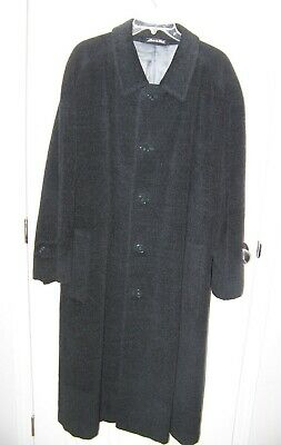 FABULOUS Men's Black ARMANI Wool Winter Coat Made in Italy Size 42 - 44      VGC