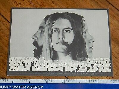 1968 Quicksilver Family Dog Avalon Ballroom Postcard Fd-147, San Andreas Art