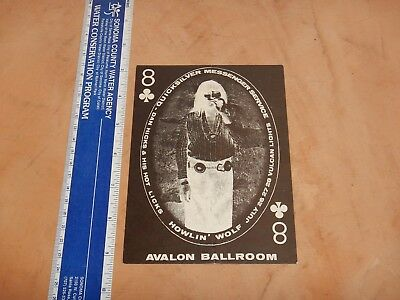 1968 Quicksilver Family Dog Avalon Concert Postcard Handbill Fd-130 C. Simpson