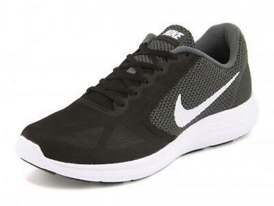 37be52a6a Nike Revolution 3 Women's Running Shoes Black+Gray Athletic Sneakers 819303