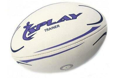 Splay Trainer Rugby Ball Purple Size 3 4 5 TRAINING Rubber Pre Match balls