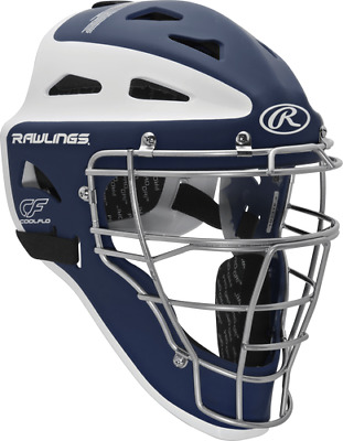 New Rawlings Velo Adult Baseball Catcher Helmet Mask CHVEL Navy White Fastpitch