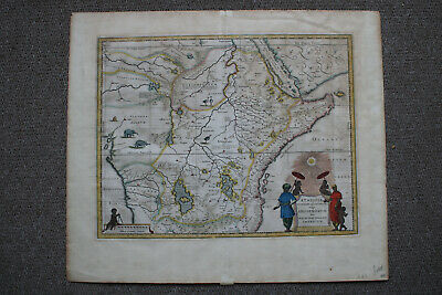 Blaeu, Map Of Central Africa, Kingdom Of Prester John, ca.1635