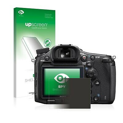 upscreen Spy Shield Clear Privacy Screen Protector for Sony Cyber-Shot DSC-H400 Privacy Protection self-Adhesive Multitouch Optimized