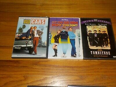 Kurt Russell DVD Lot Used Cars / Tombstone / Now You See Him Now You Don't