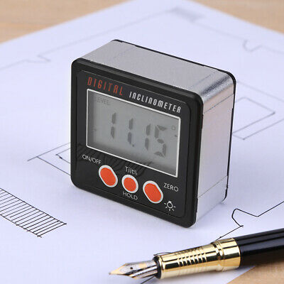 Digital Inclinometer Level Box 4*90° Protractor Angle Finder Bevel Gauge Magnet