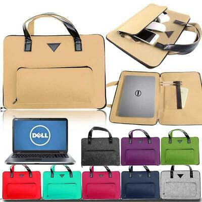 """For Dell 11"""" to 17"""" Inspiron Laptop Notebook Felt Sleeve Case Cover Carrying Bag"""