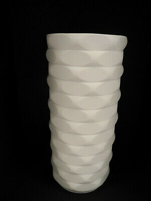 Winterling  Weiße Vase Op Art Vintage matt Relief