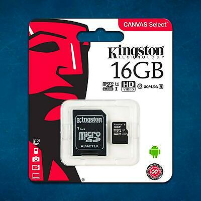 Kingston Mobile Phone Memory Card 16GB Micro SD SDHC TF Class 10 For LG K8 K4 X