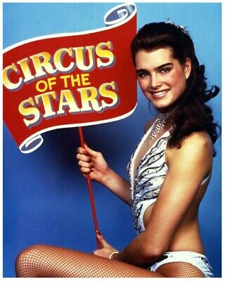 BROOKE SHIELDS great 8x10 color still CIRCUS OF THE STARS -- a490
