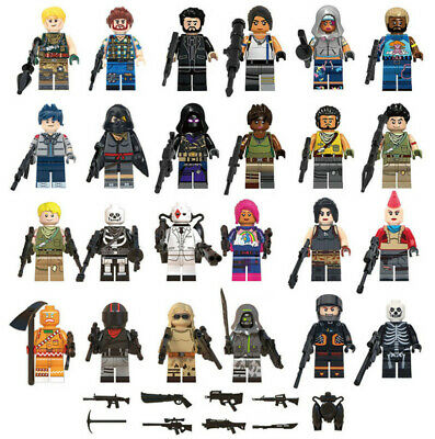 New 24 pcs Fortnite Game Mini Figures Building Blocks Toys Fits le*go