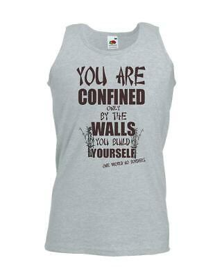 Unisex Grey Confined By Walls You Build Vest Yourself Uplifting Motivational
