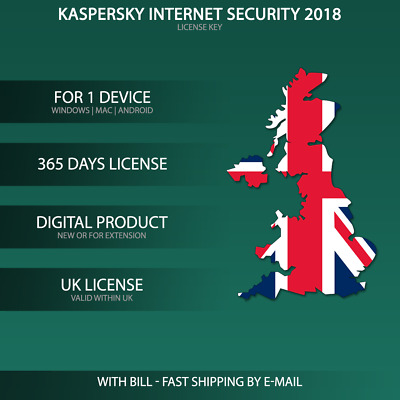 Kaspersky Internet Security 2018 UK [1 PC / 1 PC Device / KEY / ESD ]