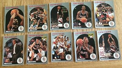 10x Official NBA Hoops Basketball Cards (1990) Portland Trailblazers