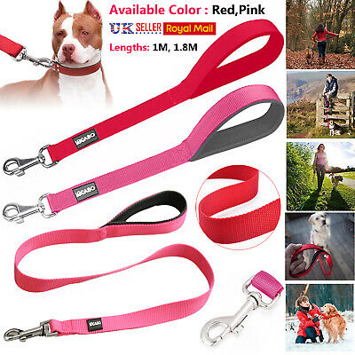 STRONG NYLON DOG LEAD Leash PET PUPPY Bold Training Walking Slip Rope HANDLE NEW
