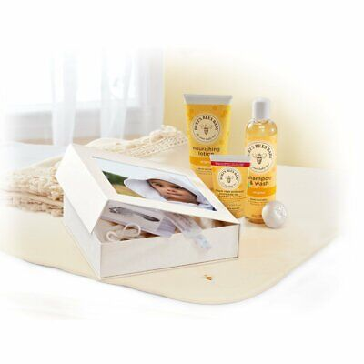 New In Box Burts Bees Baby Bee Sweet Memories Gift Set W/ Keepsake Photo Box