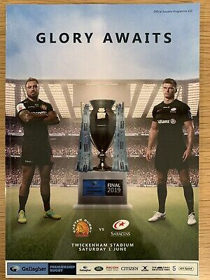 NEW Gallagher Premiership Final EXETER v SARACENS Rugby Programme £10 1/6/2019