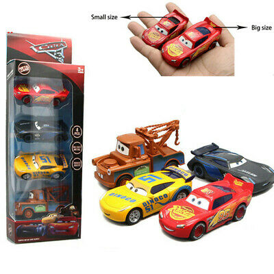 4Pcs Pixar Cars 3 Lightning McQueen Large Size Diecast Car Collection B-day Toys